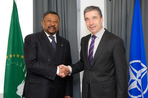 Visit to NATO by Jean Ping,Chairman of the African Union -bilateral meeting with NATO Secretary General, Anders Fogh Rasmussen