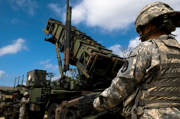 US Army Patriot missile battery trains on Kadena