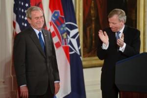 Bush+Attends+Signing+Albania+Croatia+NATO+L9SpzHyFZTzl