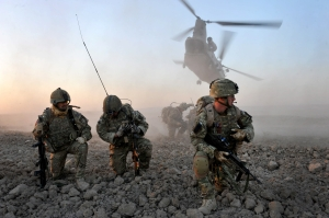 TALEBAN FLEE SCARED OF AFGHAN POLICE AND SCOTS TROOPS