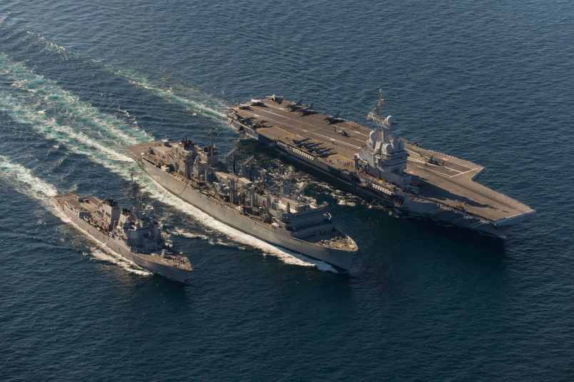 First-Ever: U.S., French Carrier Strike Groups In Joint ...