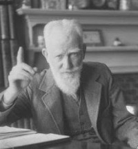 how does bernard shaw satirise essay From the blue lamp to the black and blue lamp:  orton uses an epigram from george bernard shaw's  from the blue lamp to the black and blue lamp'.
