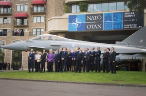 Air power flypast - NATO Wales Summit