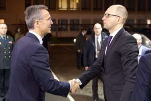 The Prime Minister of Ukraine visits NATO