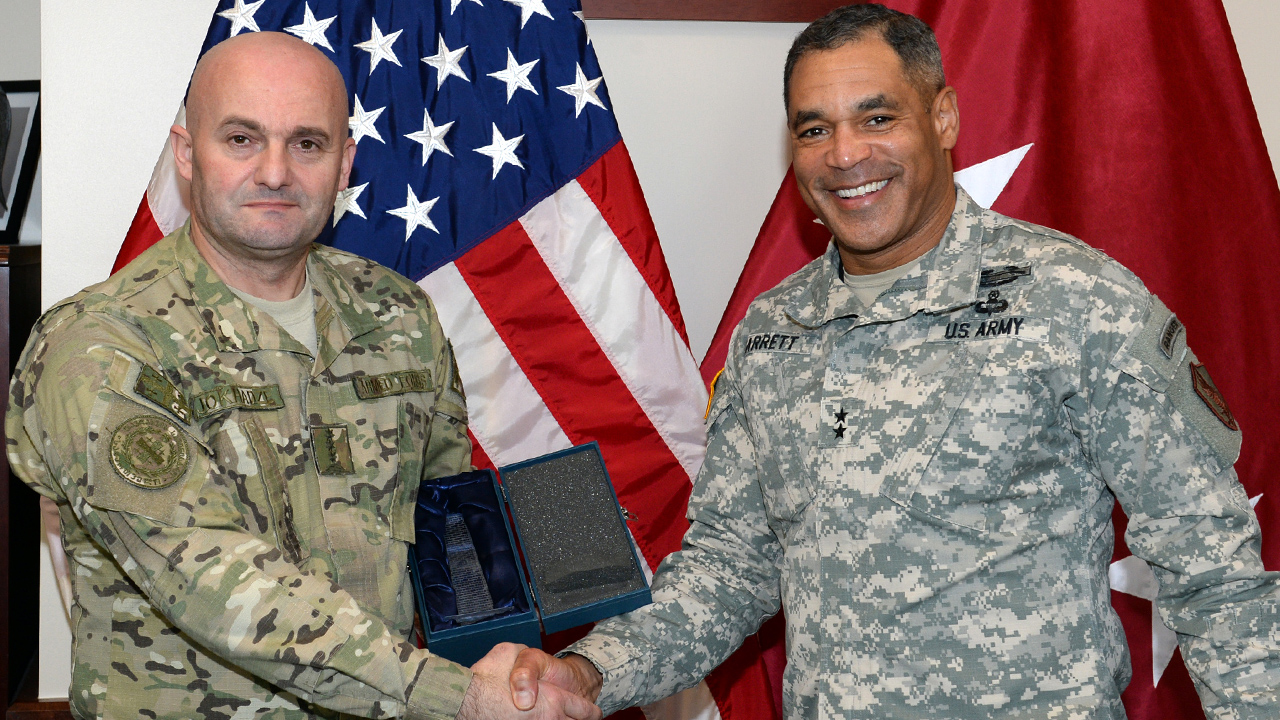 Georgian General Staff Delegation Visits U.S.