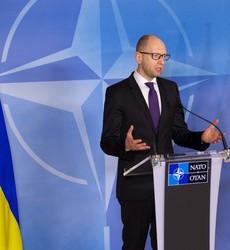 Joint press point with NATO Secretary General Jens Stoltenberg and the Prime Minister of Ukraine, Arseniy Yatsenyuk